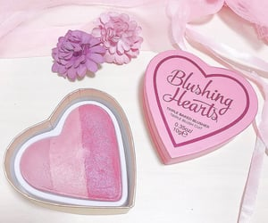 heart, makeup revolution, and blushingheart image