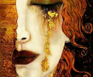 art, gold, and Gustav Klimt image