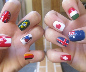 nails, flag, and canada image