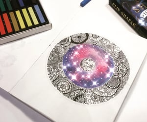 art, doodle, and stars image
