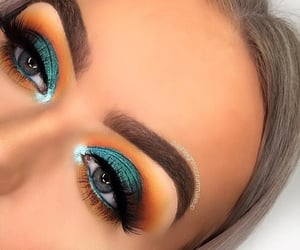 blue, makeup, and bright image
