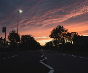 sunset, tumblr, and road image
