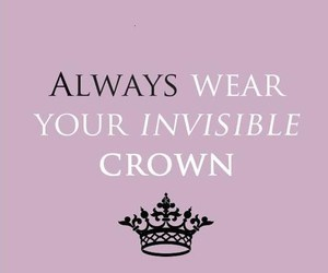 quote, crown, and girl image