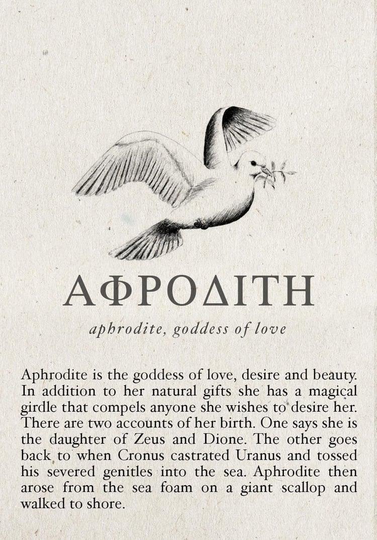aphrodite and mythology image