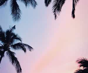wallpaper, sky, and pink image