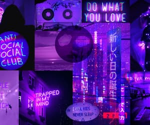 aesthetic, purple, and wallpapers image