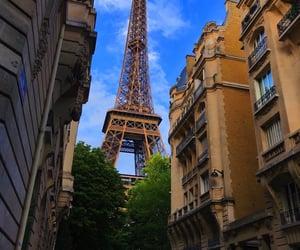 blue sky, city, and eiffel image
