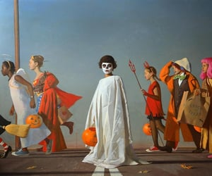 art, Halloween, and paintings image