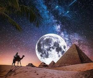 moonlight, night, and stars image