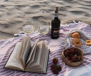 beach, sand, and wine image