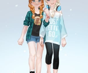anna, frozen, and movie image