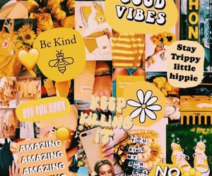 yellow, wallpaper, and Collage image