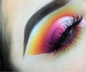 Bright Eyes, colourful, and makeup image