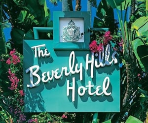 hotel, Beverly Hills, and summer image