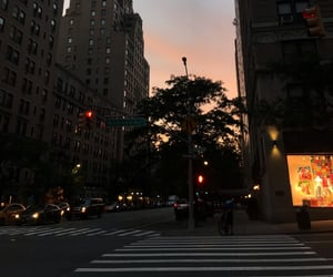 new york, sunset, and travel image