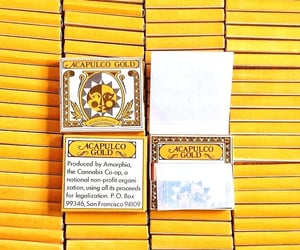 cannabis, yellow, and rollingpapers image