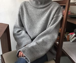 cardigan, cold, and fashion image