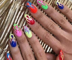 claws, acrylic nails, and nail art image