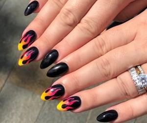 black nails, claws, and nail art image