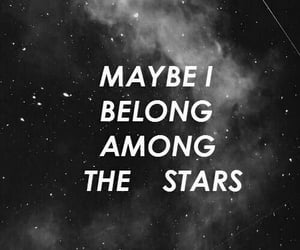 stars, quotes, and space image