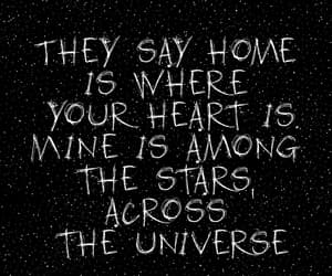 stars, galaxy, and quotes image