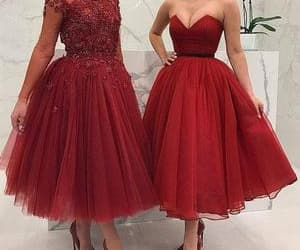 ball gown prom dresses, red evening dresses, and tulle prom dresses image