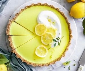 cake, cake decoration, and lemon cake image