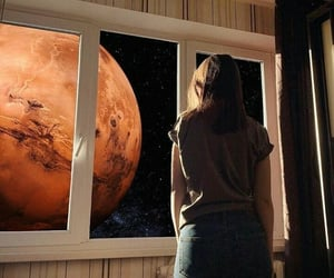 girl, space, and universe image