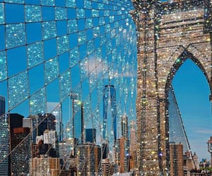 new york, city, and glitter image