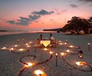 couple, beach, and romantic image