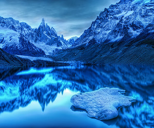 blue, mountains, and ice image