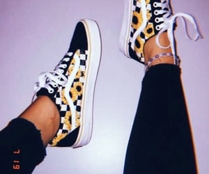 sneakers, vans, and yellow image