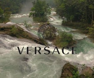 brand, river, and Versace image