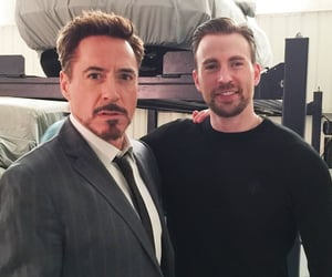 chris evans, robert downey jr, and civil war image