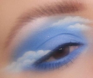 aesthetic, blue, and makeup image