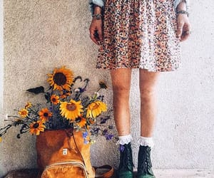 boho, combat boots, and dr martens image