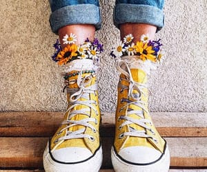 converse, dr martens, and flowers image
