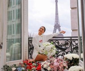paris, flowers, and camila coelho image