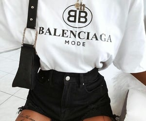 fashion, Balenciaga, and black image