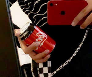 aesthetic, black, and cocacola image
