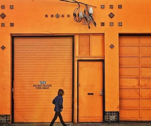 orange, street photography, and wall image