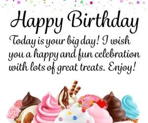 birthday, cupcake, and message image
