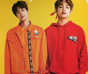 jin, bts, and taejin image