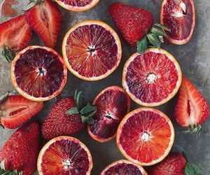 aesthetic, food, and strawberries image