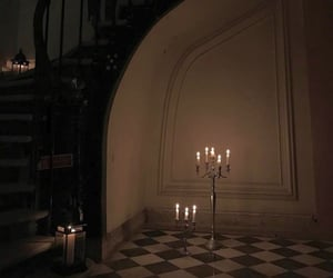 aesthetic, black, and candles image
