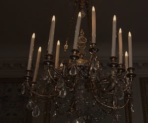 aesthetic, candle, and chandelier image