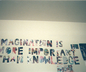 imagination, quote, and knowledge image