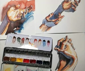 hands, art, and painting image