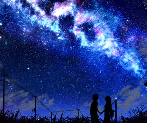 background, fantasy, and galaxy image