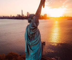 new york, sunset, and travel image